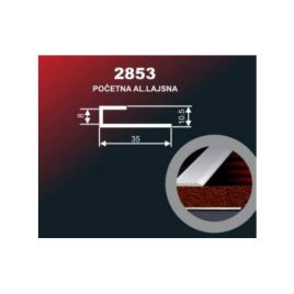 DOMIS 0.90M 2853 SREBRO ALUMINIUM ZAVRSNA